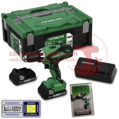 Hitachi DS18DJL-3Ah Akkus fúró-csavarbehajtó (18V/2x3.0Ah) HITBOX kofferben