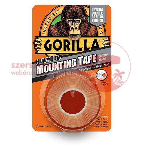 Gorilla Színtelen (mounting clear tape) kétoldalú ragasztószalag 25,4mm x 1,52m