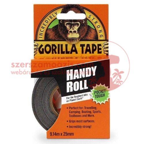 Gorilla Fekete (duct tape to-go) ragasztószalag 25mm x 9m