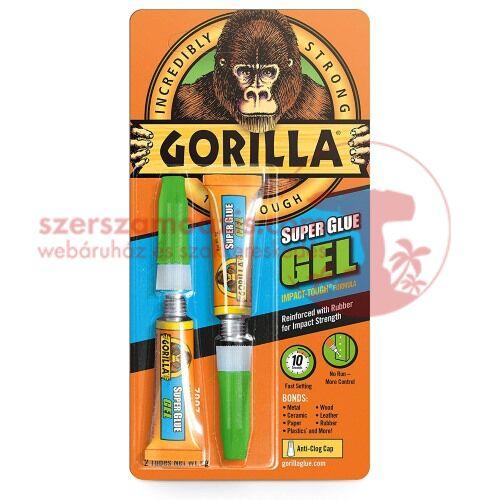 Gorilla extra erős (super glue gel) zselés pillanatragasztó 2x3g (6g)