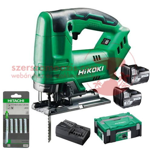 Hitachi (HiKOKI) CJ18DA-5Ah Akkus szúrófűrész (18V/2x5.0Ah) HITBOX kofferben