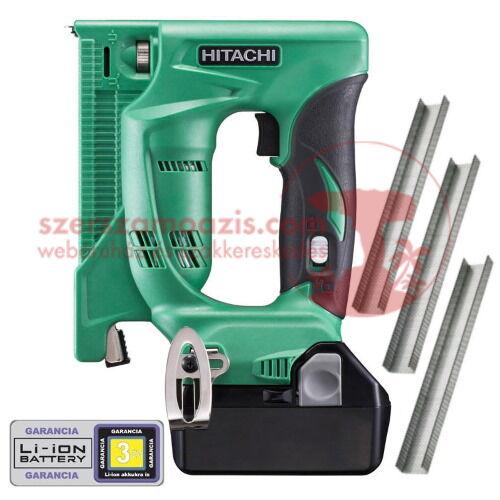 Hitachi (HiKOKI) N18DSL-2Ah Akkus kapcsozó (18V/2x2Ah) + AJÁNDÉK