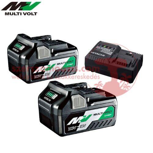 Hitachi BSL36A18 MultiVolt Li-Ion akkumulátor csomag töltővel 36V-2.5Ah / 18V-5.0Ah