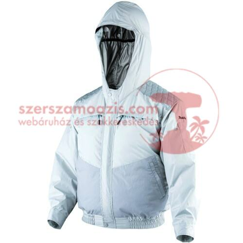Makita DFJ401ZXL Akkus kültéri kapucnis hűthető kabát csiszoláshoz XL
