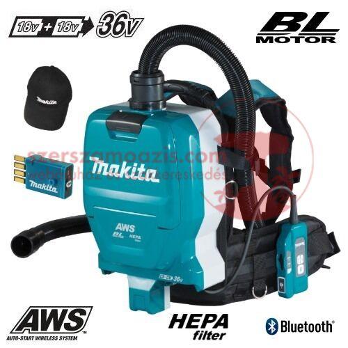Makita DVC265ZXU Akkus háti porszívó HEPA 2x18V (akku és töltő nélkül)