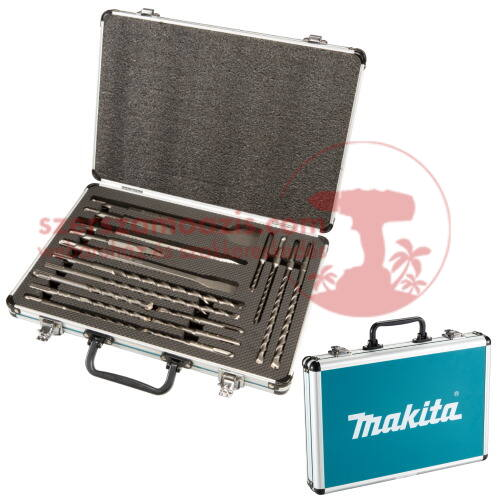 Makita 17db-os SDS-Plus fúró-vésőkészlet alumínium dobozban