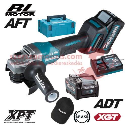 Makita GA013GM201 Akkus sarokcsiszoló 40V MAX XGT/2x4.0Ah/125mm