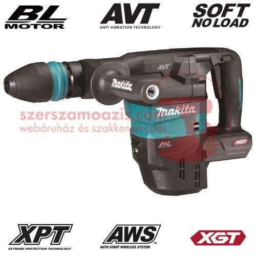 Makita HM001GZ02 Akkus SDS-Max vésőkalapács 40V MAX XGT/9.4J kofferben (akku és töltő nélkül)
