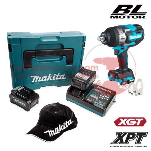 Makita TW001GM201 Akkus ütvecsavarozó 40V MAX XGT/2x4.0Ah MAKPAC kofferben